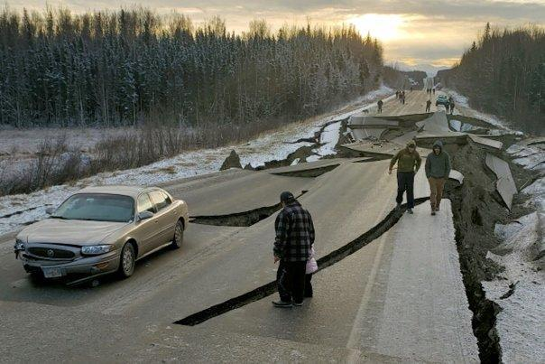 تصویر هوایی از زلزله آلاسکا