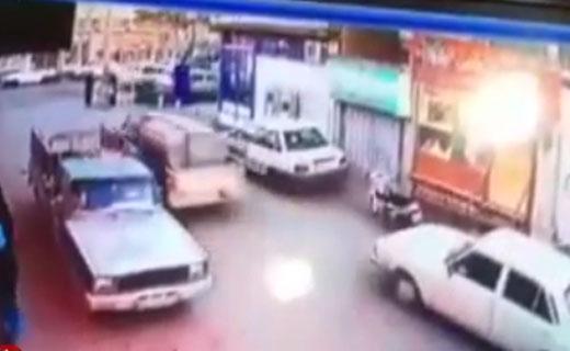 شهروندخبرنگار اصفهان؛ لحظه زیرگرفتن یک زن توسط راننده ناشی پراید