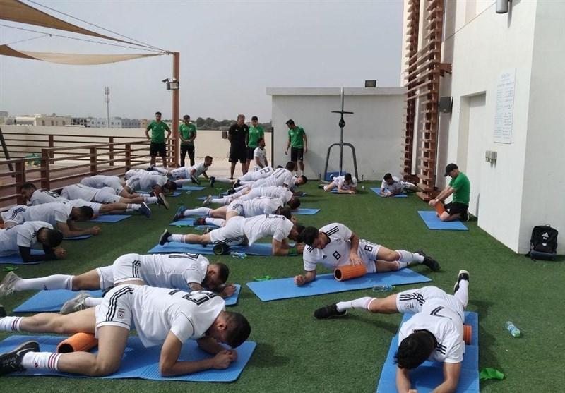 تمرین صبحگاهی تیم ملی در هتل