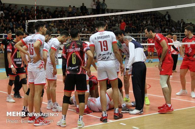 پیروزی تیم والیبال پیغام مشهد مقابل فولاد سیرجان ایرانیان