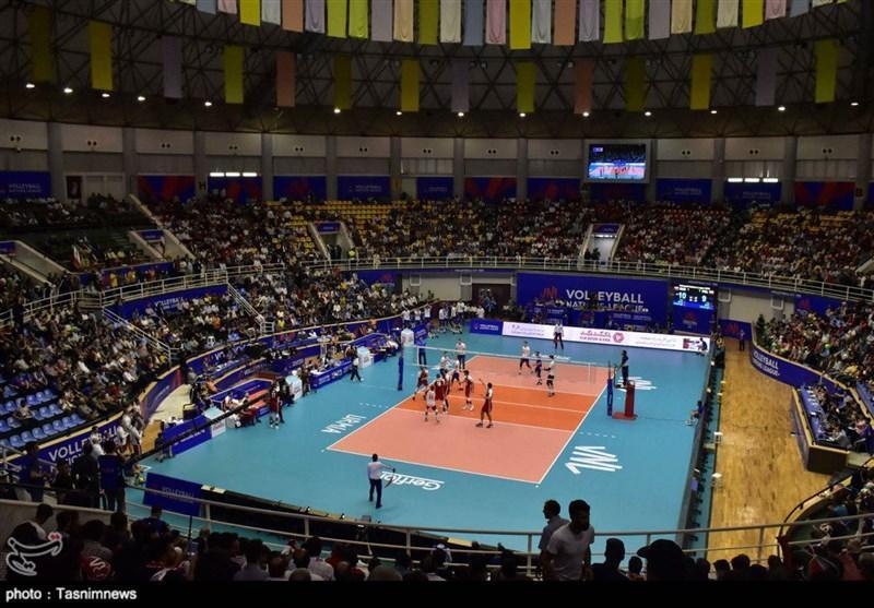 لیگ ملت های والیبال ـ ارومیه، دیدار تیم های ملی والیبال روسیه و کانادا به روایت تصویر