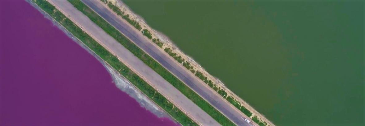 آرامستان رنگین کمان در دریای مرده ، تصاویر بی نظیر رنگارنگ شدن دریاچه چینی ها را ببینید