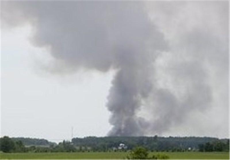 آتش سوزی بر اثر خارج شدن یک قطار حامل مواد نفتی از ریل کانادا