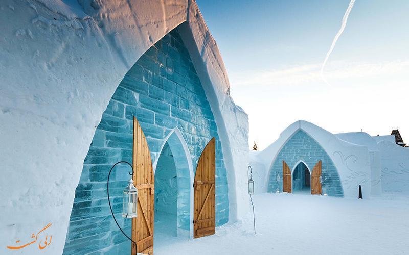 آیا می دانستید قصر یخی انیمیشن فروزن همان هتل یخی کبک در کانادا است؟