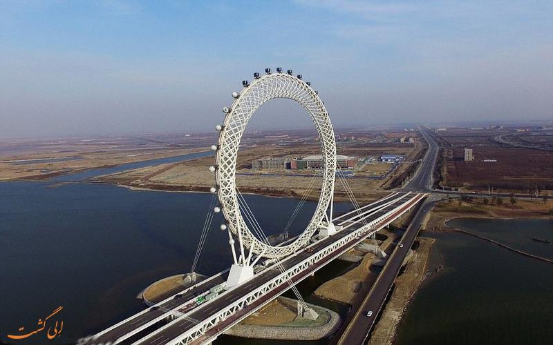 افتتاح بزرگترین چرخ فلک بدون پره جهان در چین