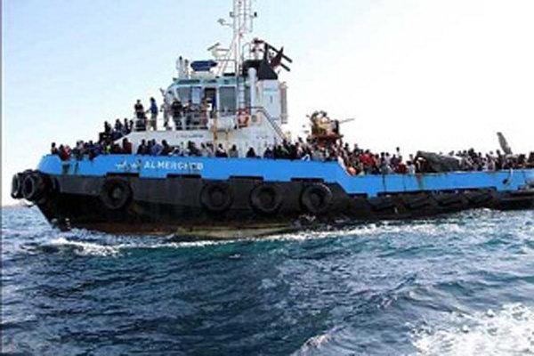 گارد ساحلی ایتالیا ناجی پناهجویان
