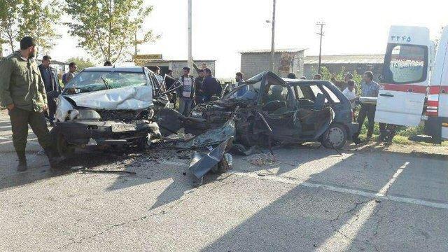 یک کشته و 3 مصدوم در پی برخورد تیبا با پراید در محوریاسوج- اصفهان