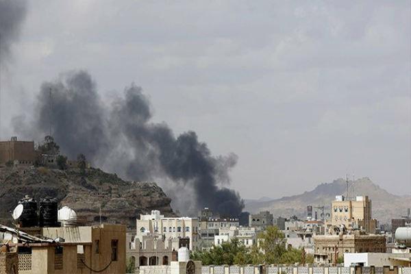 بمباران منطقه کتاف یمن توسط جنگنده های سعودی
