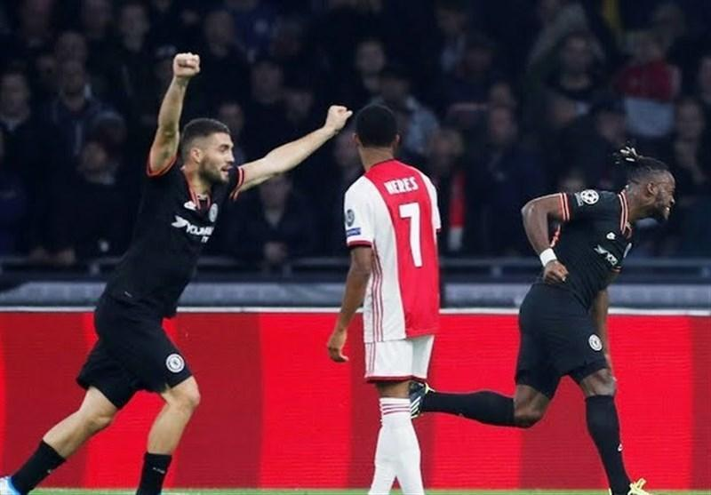 لیگ قهرمانان اروپا، فزونی دیرهنگام چلسی در خانه آژاکس، شکست زنیت در حضور 75 دقیقه ای آزمون