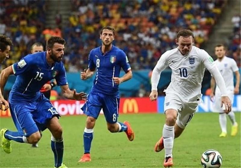 مصاف محبت آمیز تیم های ملی ایتالیا و انگلیس در خانه بانوی پیر
