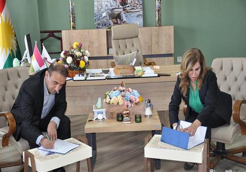تفاهم نامه همکاری بین دو دانشگاه کردستان و حلبچه منعقد شد