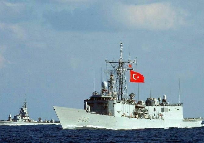اعزام 2 ناوچه ترکیه به سمت الجزایر