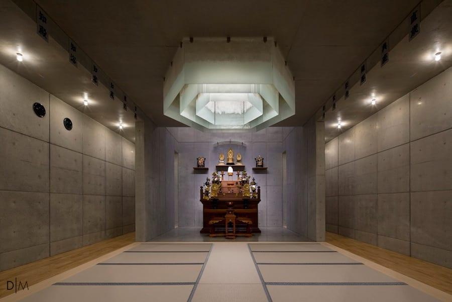معماری مدرن یک معبد ژاپنی از استودیو Mamiya Shinichi