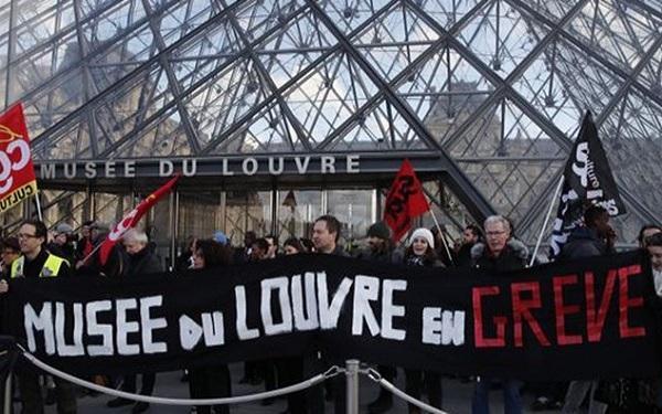 ادامه اعتراضات و اعتصابات در فرانسه، موزه لوور نیز به تعطیلی کشیده شد