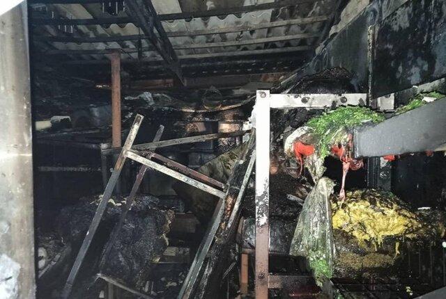 آتش سوزی در سردخانه و انباری یک مرکز درمانی در تهران