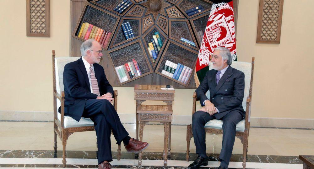 ملاقات سرپرست سفارت آمریکا در کابل با عبدالله عبدالله