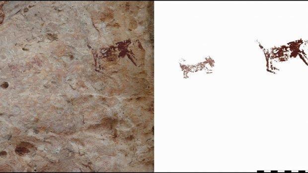 کشف نقاشی دیواری در غار 2500 ساله