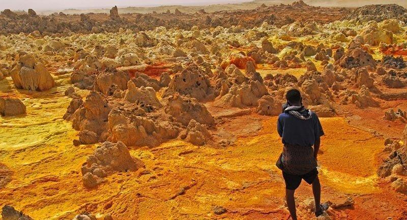 سفر به عجایب اتیوپی ، دالول؛ بیابانی آتش فشانی با بزرگترین حفره های آب گرم دنیا