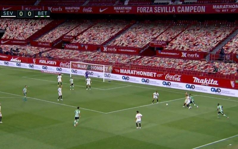 لالیگای اسپانیا می خواهد غم بی تماشاگری اجباری را با تماشاگران و صدای مجازی ورزشگاه، تسکین بدهد
