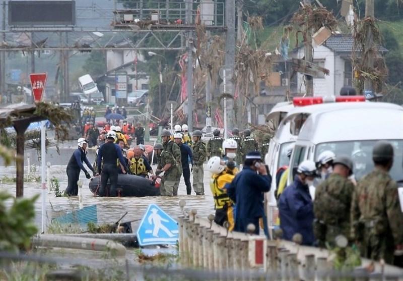 از غرب تا شرق ژاپن نگران باران های سیل آسا