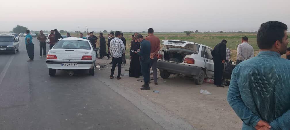 خبرنگاران تصادف در گتوند 2 کشته و 2 مصدوم برجا گذاشت