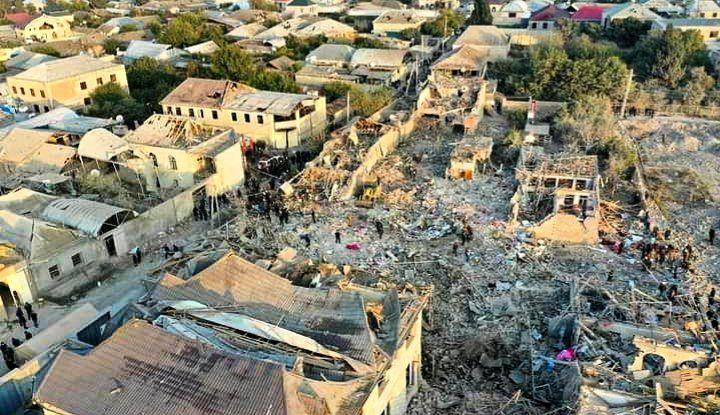 12 کشته در حمله ارمنستان به شهر گنجه آذربایجان