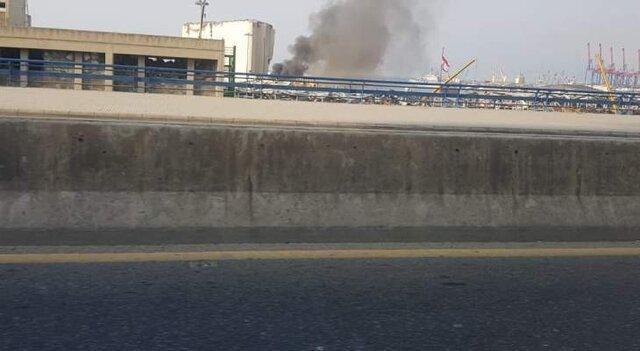 آتش سوزی جدید در بندر بیروت