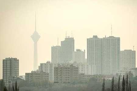 افزایش آلودگی هوا در شهرهای عظیم ، آسمان تهران 13 آبان صاف تا کمی ابری