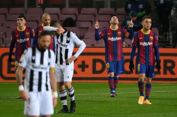 پیروزی خانگی سخت بارسلونا با تک گل لیونل مسی