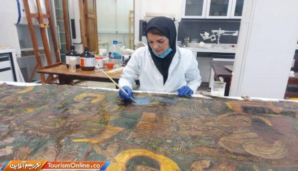 تابلو نقاشی قهوه خانه ای کاخ گلستان بازسازی می گردد