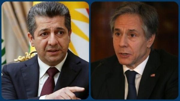گفتگوی تلفنی بارزانی و بلینکن درباره انتخابات و مسائل امنیتی عراق