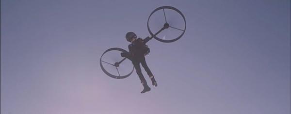 پرواز آزمایشی با بالگرد کوله ای
